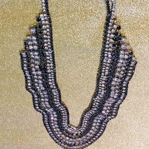 Beautiful black/clear rhinestone necklace